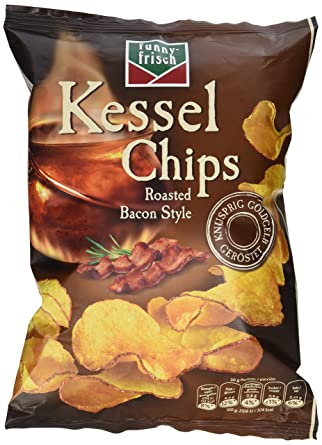 funny-frisch Kessel Chips Roasted Bacon 5er Pack (5 x 120 g): Amazon ...