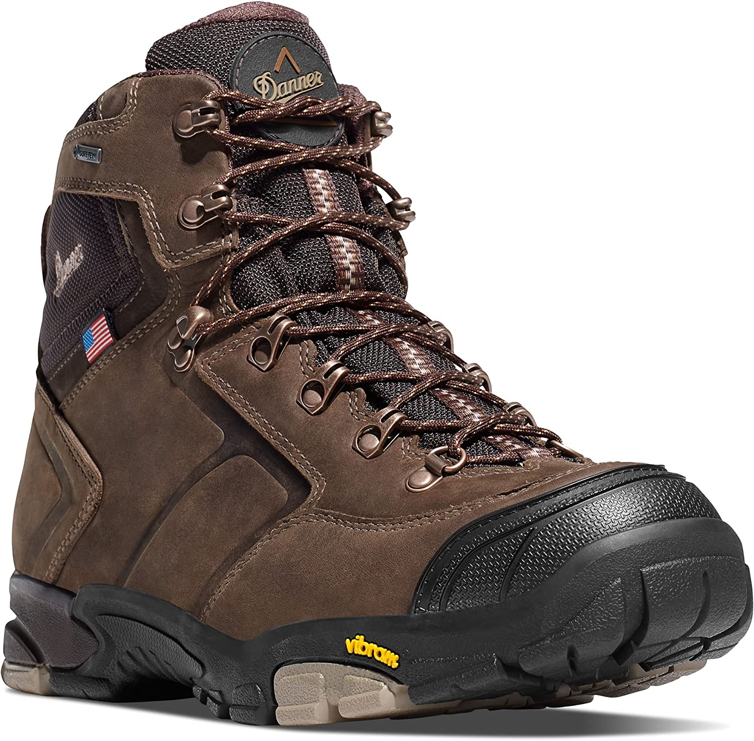 Danner MT Adams 4.5 Brown Vibram 65810 Sole Outdoor Boots Waterproof Downhill Braking and Side-Hill Traction