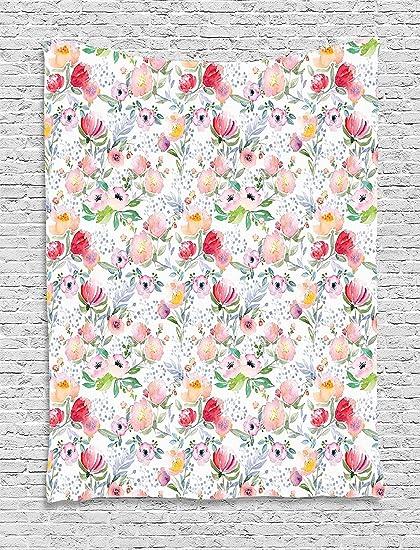 Supersoft manta de forro polar Flower Colorful Watercolor efecto ...
