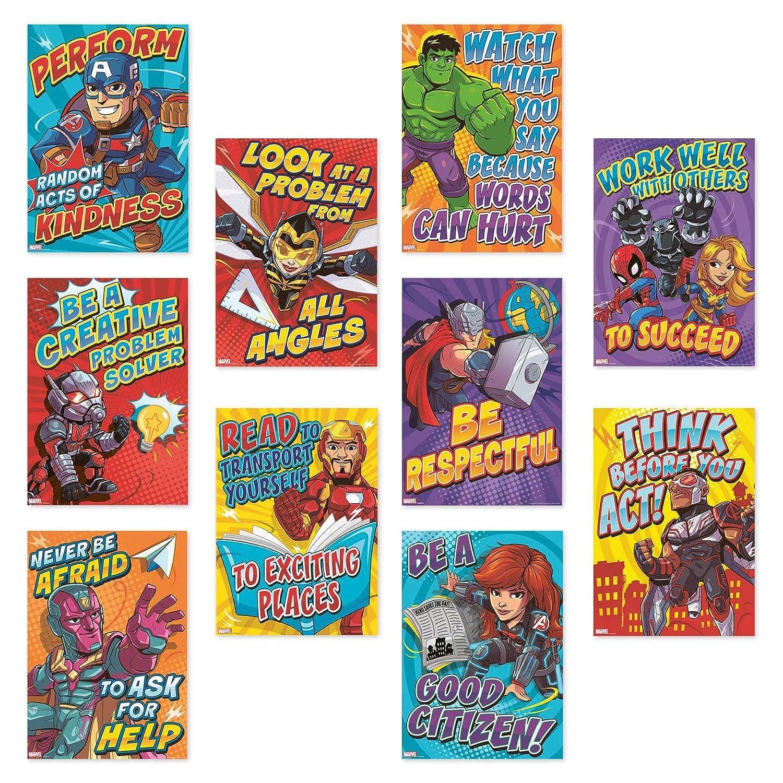 35pc 6 W X 21 L Eureka Back To School Marvel Superhero
