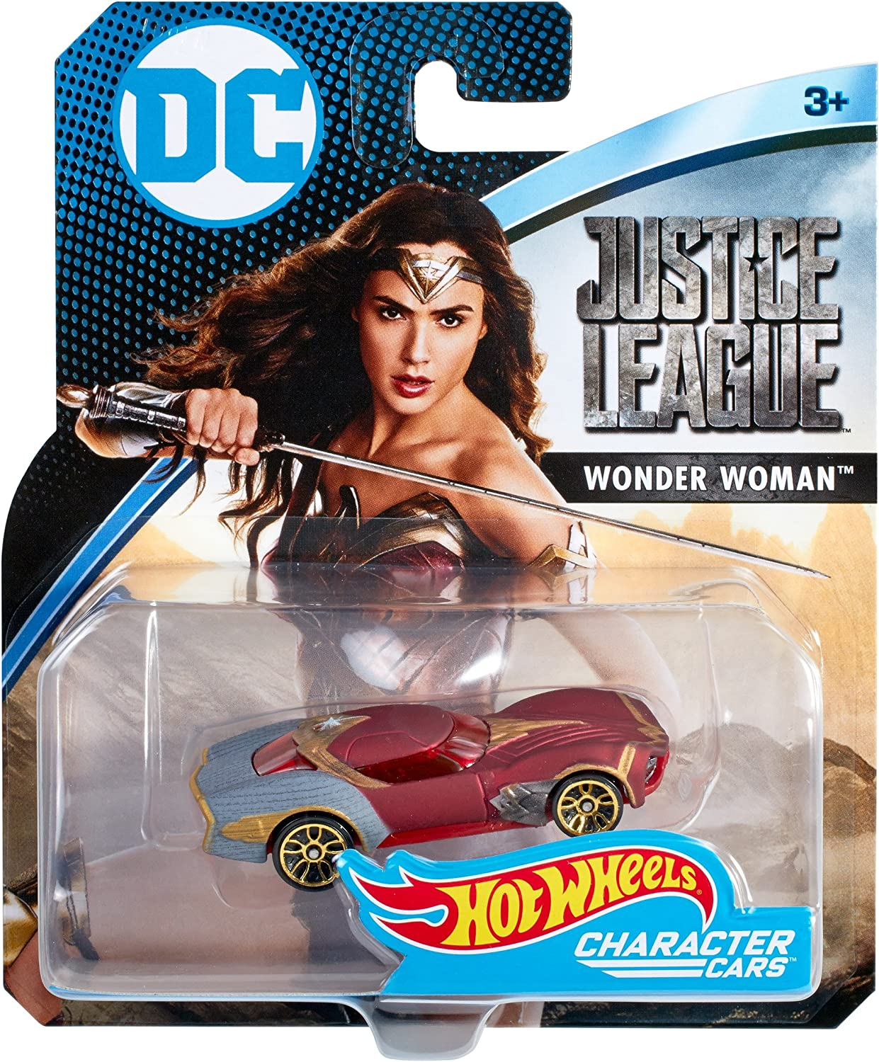 DC Wonder Woman Justice League Hot Wheels Character Cars New Free Shipping