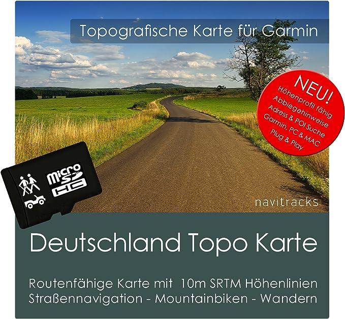 gps karte deutschland Deutschland Garmin Karte TOPO   8 GB microSD. Topografische GPS