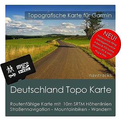 Deutschland Garmin Karte Topo Auf 8 Gb Microsd Topografische Gps