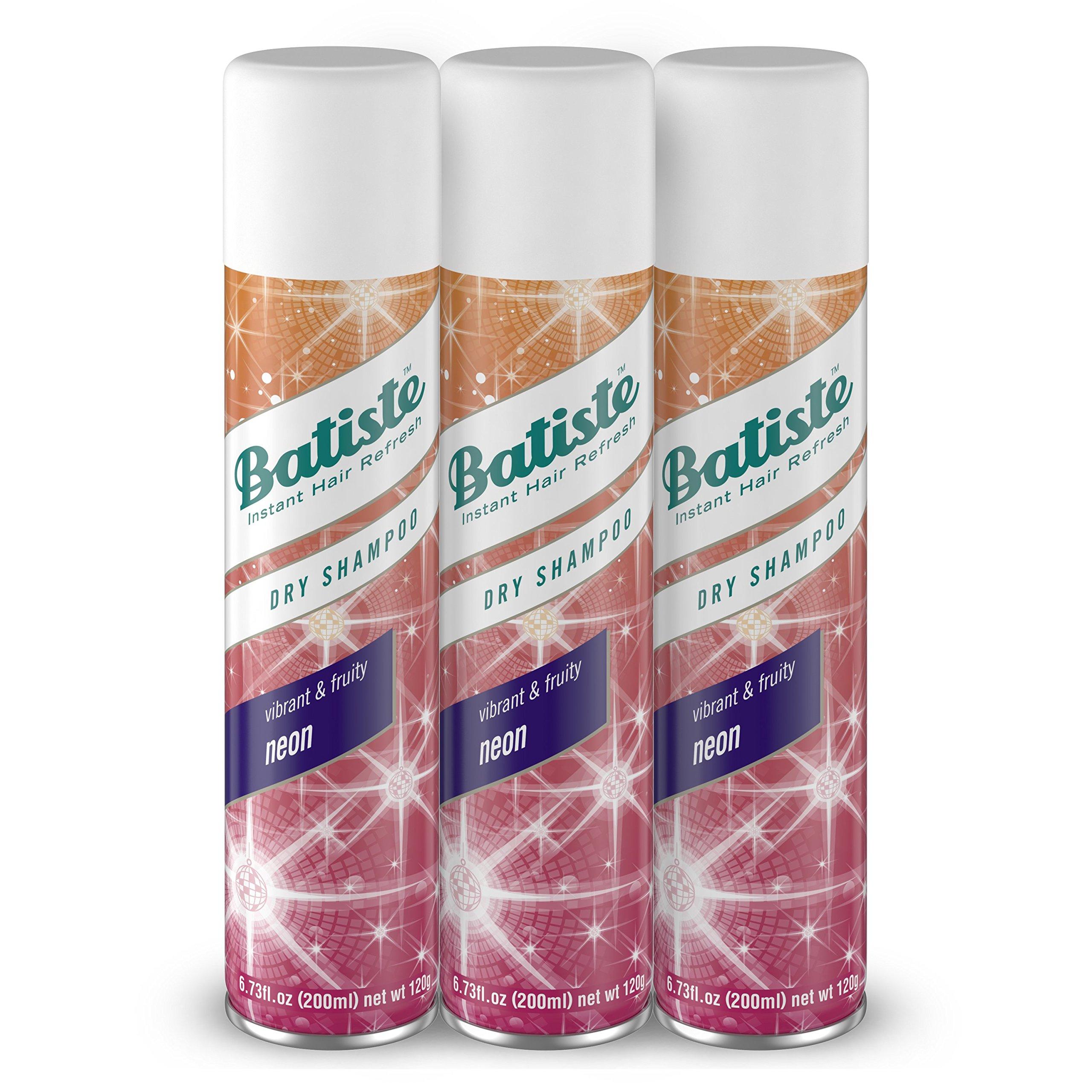 Batiste Dry Shampoo, Neon, 3 Count (Pack of 4) by Batiste