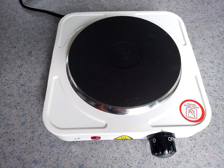 Bianco KitaBulb Fornello Elettrico 1 Piastra Ghisa Piastra di Riscaldamento Portatile Cucine Fornelli Hob 1000W Cottura Singola