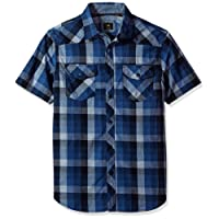LEE Mens Short Sleeve Woven Shirt Short_Sleeve Button-Down Shirt