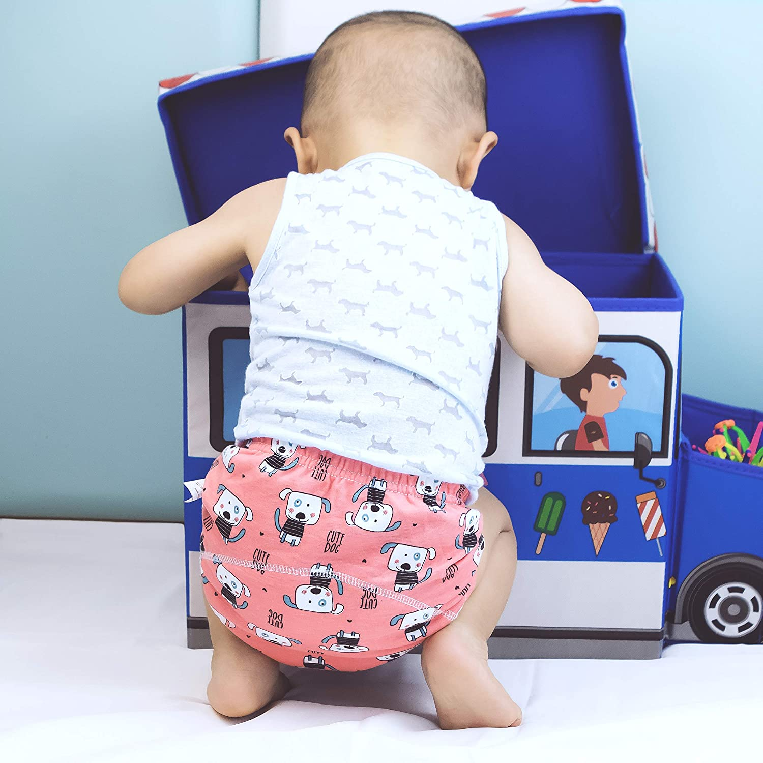U0U Baby Girls/' 4 Pack Cotton Training Pants Toddler Potty Training Underwear for Boys and Girls 12M-4T