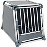 Kerbl Hunde Auto Alu-Transport Box TravelProtect, Liegematte, Kunststoffwanne