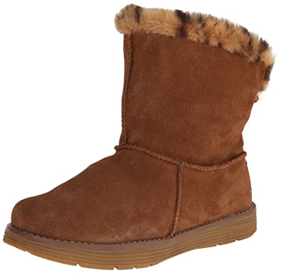 Details about Skechers Women's Ladies Winter Boots Suede Faux Fur Lined Brown Size 4 UK 37 EU