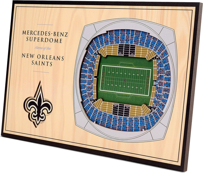 YouTheFan NFL Desktop StadiumViews, Wood Grain, 12 x 8 Inches