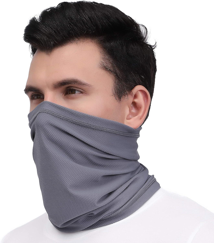Arcweg MultifunctionalFace Mask Bandanas for Dust Protection Mens Neck Scarf Stretchy Headband Outdoor Face Scarf