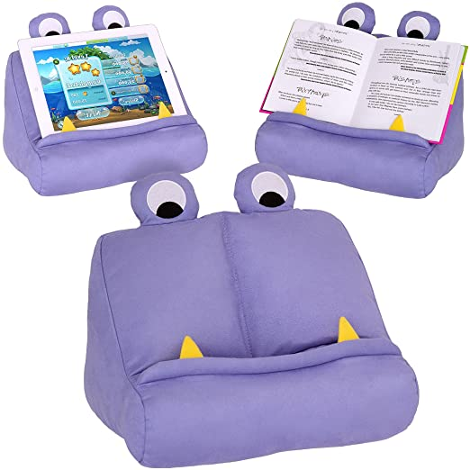 Fabulous Bookmonster Book Ipad Tablet Holder Novelty Ereader Rest Sofa Pillow Stand Gift Idea Purple Ocoug Best Dining Table And Chair Ideas Images Ocougorg