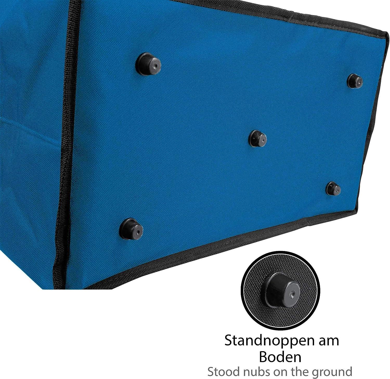 Braun 2 St/ück ONVAYA/® Einkaufskorb faltbar mit K/ühlfunktion Isolierkorb schwarz//gelb//blau Thermokorb klappbar Klappkorb Einkaufstasche Faltkorb mit Deckel