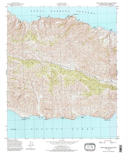 California Maps 1943 Santa Cruz Island B Ca Usgs Historical