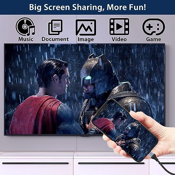 Amavasion Cable HDMI para Phone a 1080P Digital AV HDTV Compatible con iPhone 11/11 Pro/11 Pro MAX/XR/X/XS/XS Max/8/8 Plus/7/7 Plus/6/6 Plus/6S/6S Plus/SE, iPad Air/Mini: Amazon.es: Electrónica