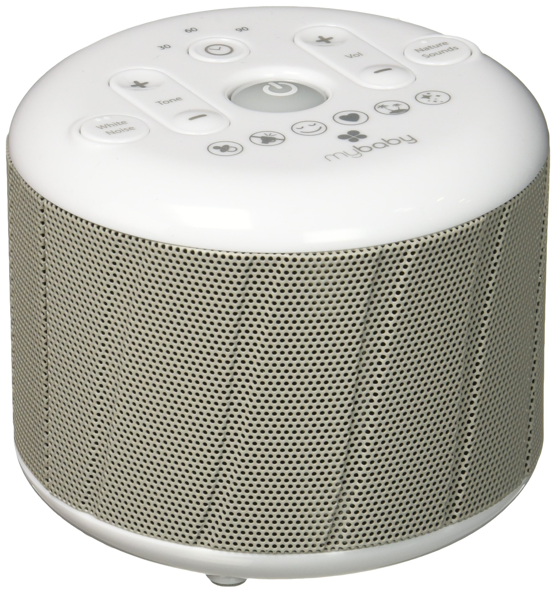 myBaby Deep Sleep SoundSpa White Noise Machine, Plays 6 Sounds, Heartbeat, Sooth, Mask, Calm, Ocean, Twinkle Twinkle, AC or 4AAA Battery Operated, Perfect for Naptime, MYB-D100