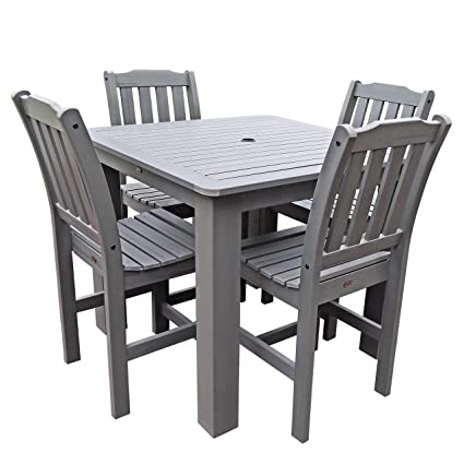 Highwood 5 Piece Lehigh Square Counter Height Dining Set, 42 By 42 Inch