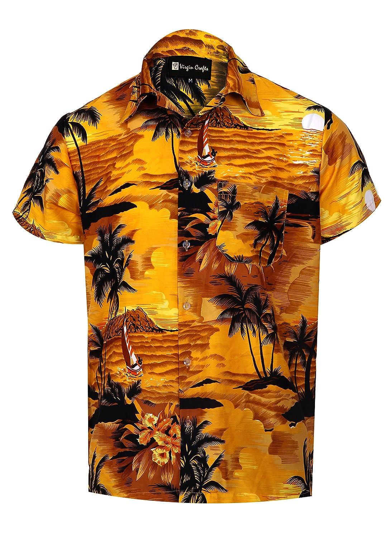 Virgin Crafts Hawaiian Shirt for Men's Printed Casual Fashion Beach Shirt