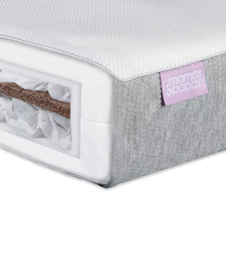 competitive price 75496 dab1b Mamas & Papas Baby Luxury Twin Spring Mattress for Cotbed, Nursery  Furniture – 140 x 70 x 10cm
