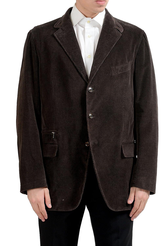 4414ba0d95 Amazon.com: Ermenegildo Zegna Men's Cashmere Corduroy Brown Blazer ...