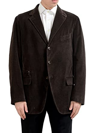 85840f1d Amazon.com: Ermenegildo Zegna Men's Cashmere Corduroy Brown Blazer ...