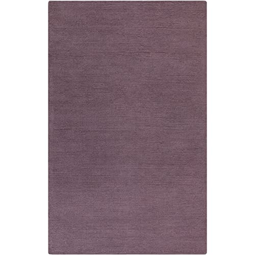 Surya Hand Loomed Casual Accent Rug, 3-Feet 3-Inch by 5-Feet 3-Inch, Mauve