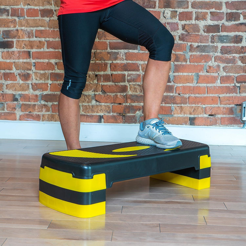 Exercise Step Platform for Home Gym and Fitness Training; 78 x 28cm PRISP Adjustable Aerobic Stepper 78cm 10//15//20 cm 3 Levels