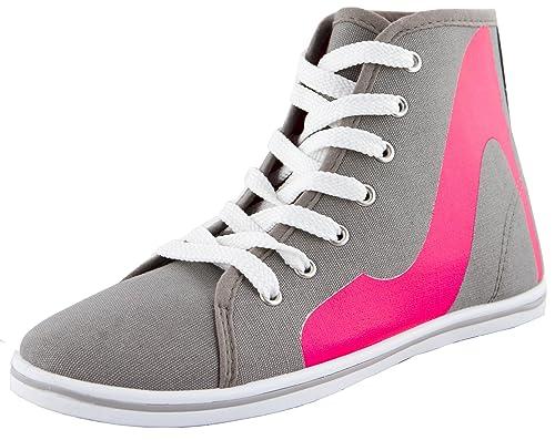 Sneaker mujer, Zapatillas de high heel print, y tal—n plano, Color