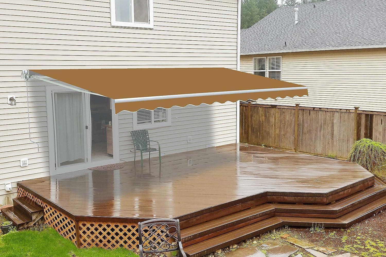 Amazon.com : ALEKO AW12X10SAND31 Retractable Patio Awning 12 X 10 Feet Sand  : Garden U0026 Outdoor