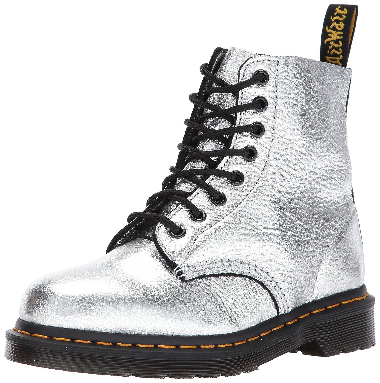 Dr. Martens Women's Pascal Met Fashion Boot B01MY3DE93 4 Medium UK (6 US)|Silver Santos