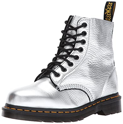 874879bce Dr. Martens Women's Pascal MET Fashion Boot, Silver Santos, 3 Medium UK (