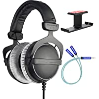 Beyerdynamic DT 770 PRO 32 Ohm Closed-Back Headphones for Smartphones, Computers, and Mobile Devices Bundle with Blucoil…