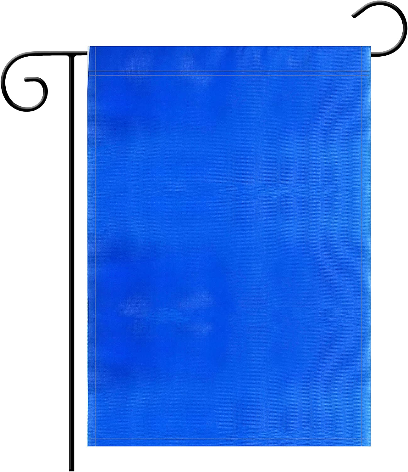 "TSMD Solid Blue Garden Flag Double Sided Plain Blue DIY Flags,Outdoor Yard Decorative Flags,12""x 18"""