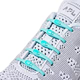 HICKIES 2.0 Unisex One-Size Fits All No Tie Elastic Shoelaces - Mint (14 HICKIES Laces, Works in all shoes) (Color: Mint, Tamaño: One Size)
