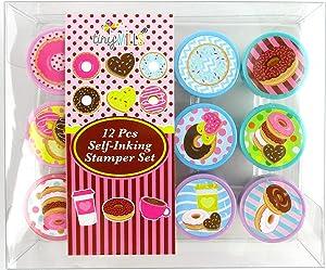 TINYMILLS 12 Pcs Donuts Stamp Kit for Kids