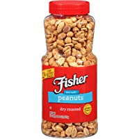 Fisher Snack FISHER Snack Sea Salt Dry Roasted Peanuts, 22 oz (Pack of 12), Naturally Gluten Free