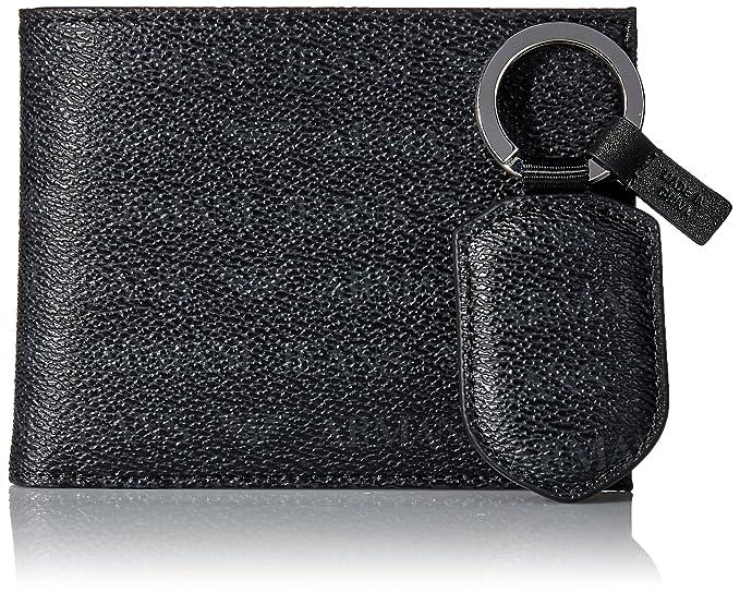 Armani Jeans Hombres Conjunto de cartera de cuero del faux Negro única Talla: Amazon.es: Ropa y accesorios