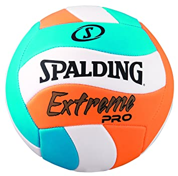 Amazon.com : Spalding Extreme Pro Wave Volleyball, Blue/Orange ...