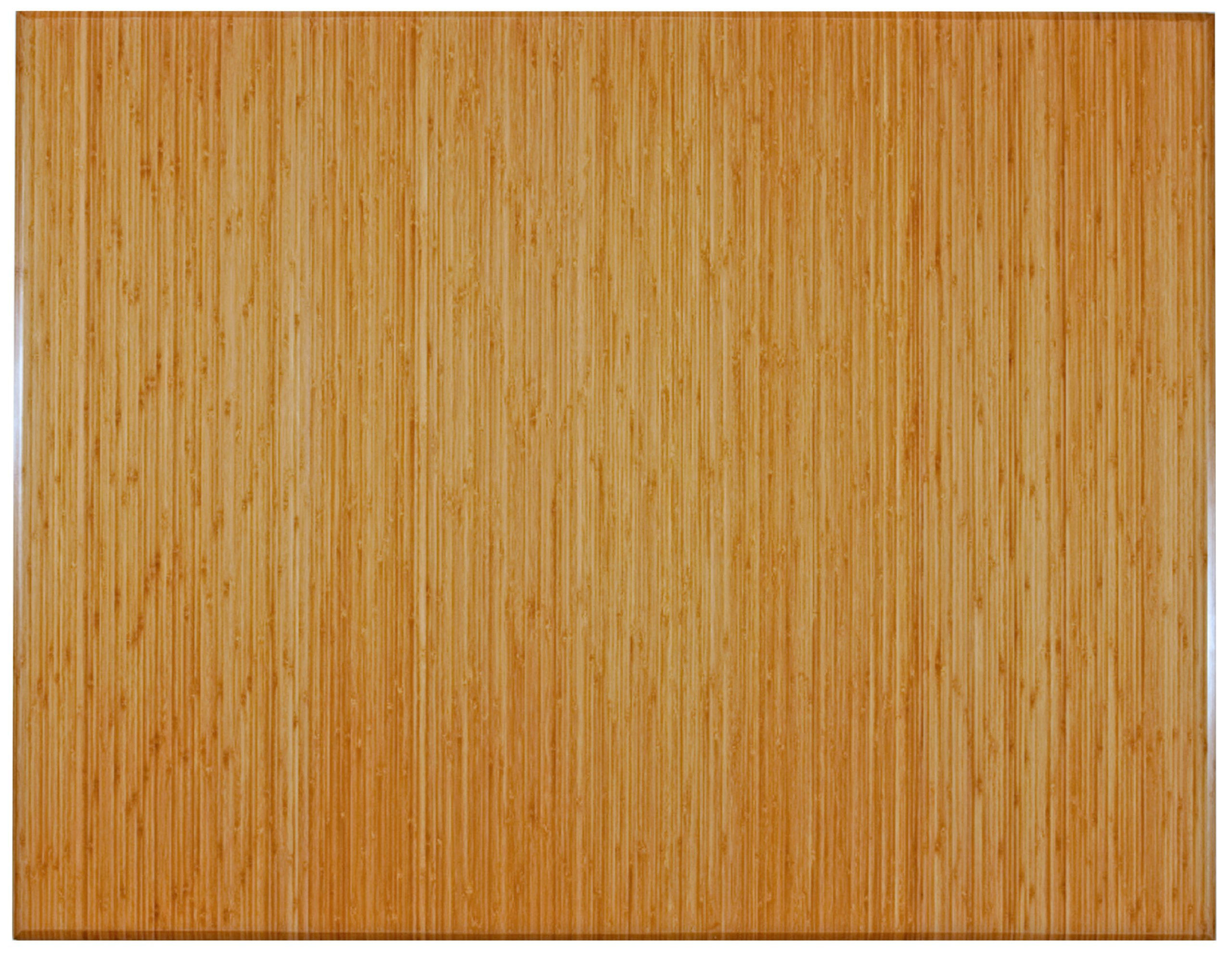 Anji Mountain AMB0500-1008 Trifold Bamboo Chair Mat Without Lip, Natural, 47 x 60, 12mm Thick by Anji Mountain