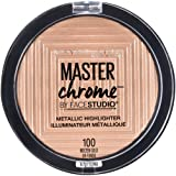 Amazon Price History for:Maybelline New York Face Studio Master Chrome Metallic Highlighter, Molten Gold, 0.24 Ounce