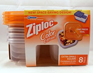 Ziploc Color Edition Extra Small Square Containers & Lids Orange