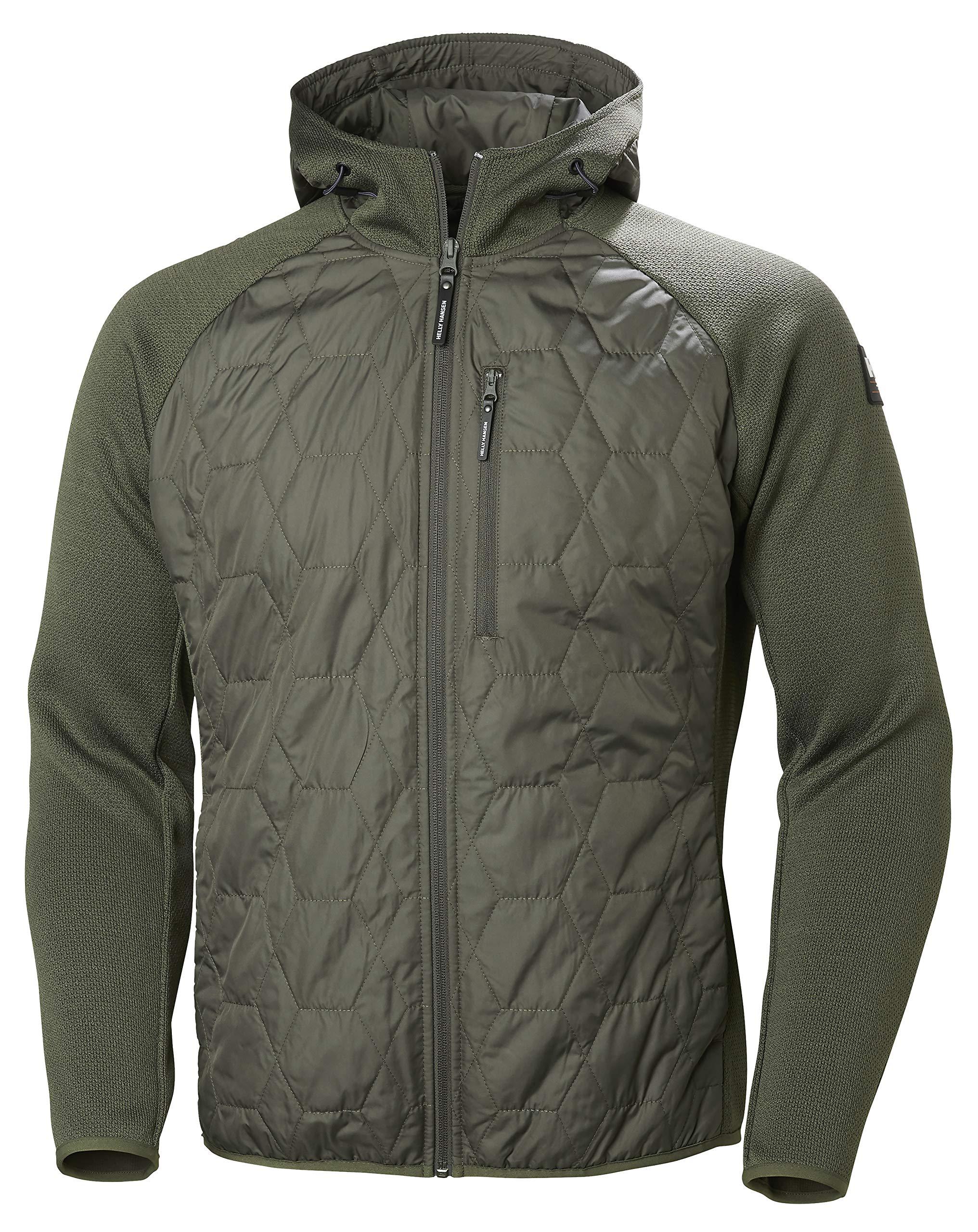 Helly Hansen Men's Shore Hybrid Hooded Light Insulator Jacket, 482 Beluga, X-Large by Helly Hansen