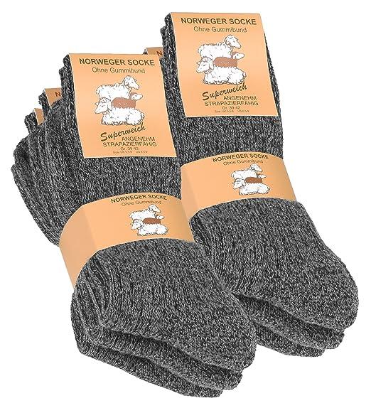 Vincent Creation® 6 pares de gruesa y cálida noruegos calcetines para hombre: Amazon.es: Ropa y accesorios