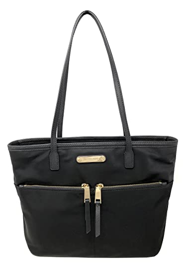 c19159223535 MICHAEL Michael Kors Kempton Nylon Medium Pocket Tote (Black ...