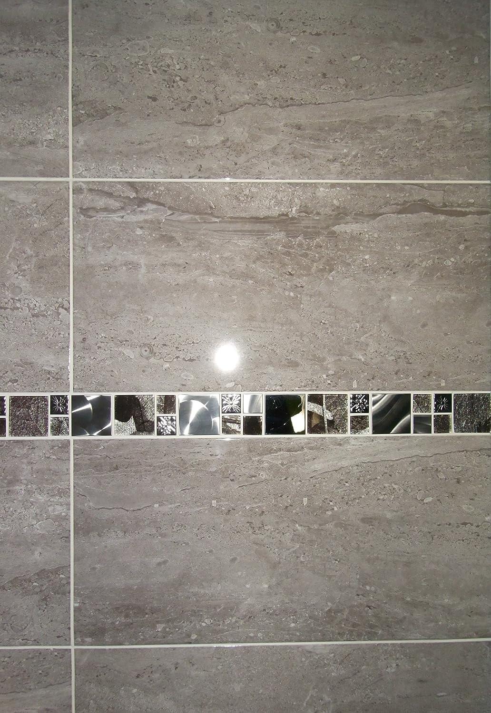 20m2 Parallel Travertine Effect Gloss Grey Bathroom Wall Tile Deal ...