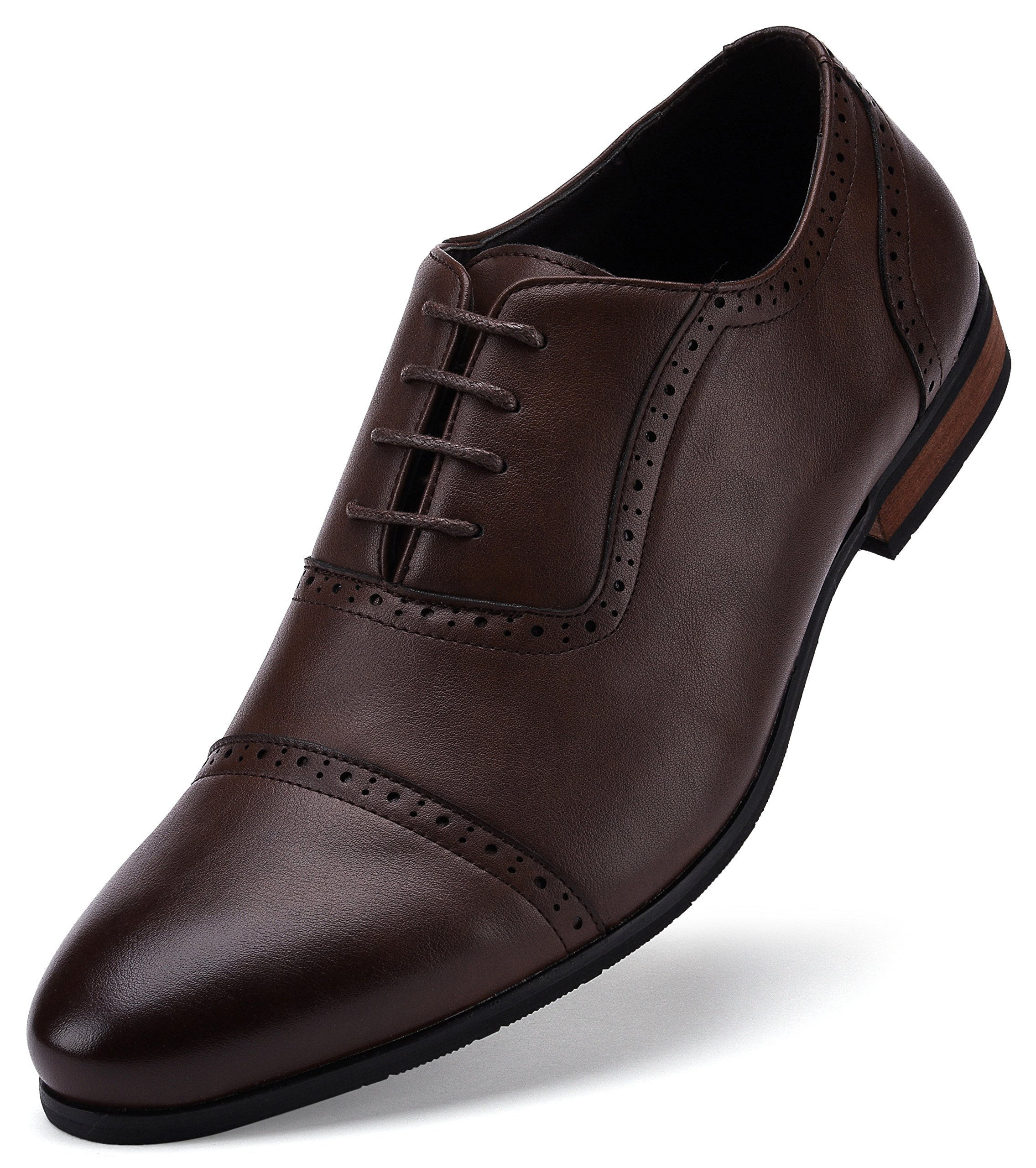 Captoe Design Oxford Shoe Chocolate Brown US-8.5D(M) | UK-41-42 | EU-8