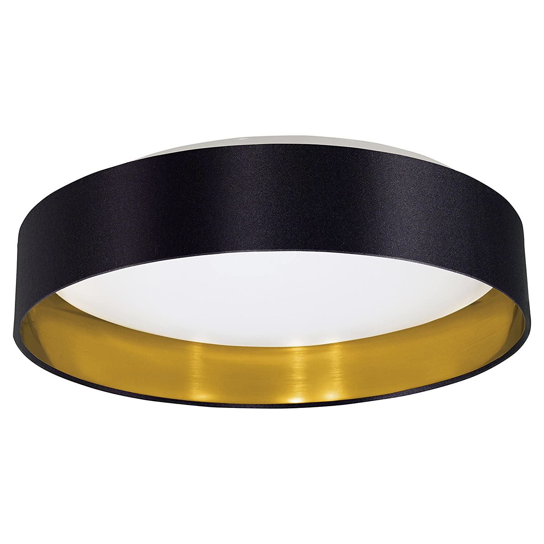 Maserlo 1 Light Flush Ceiling Light Shade Colour: Black / Gold [Energy Class A] Eglo 31622