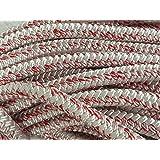 """3/4"""" X 150', 12 Carrier 24-strand Arborist Bull Rope, white/red"""