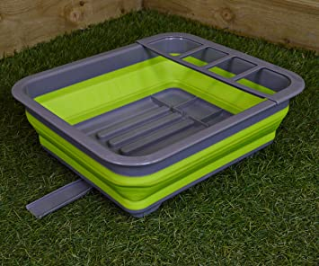 Summit Pop Dish Drainer With Draining System Lime//Grey