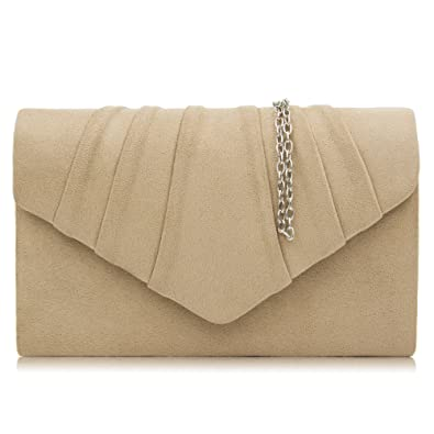 milisente women clutches velvet pleated evening bag evenlope clutch